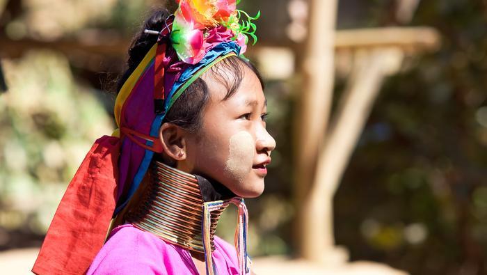 Dziewczynka z grupy etnicznej Karenów